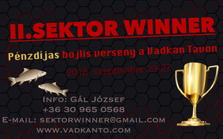 II. SEKTOR - WINNER pénzdíjas bojlisverseny a Vadkan tavon