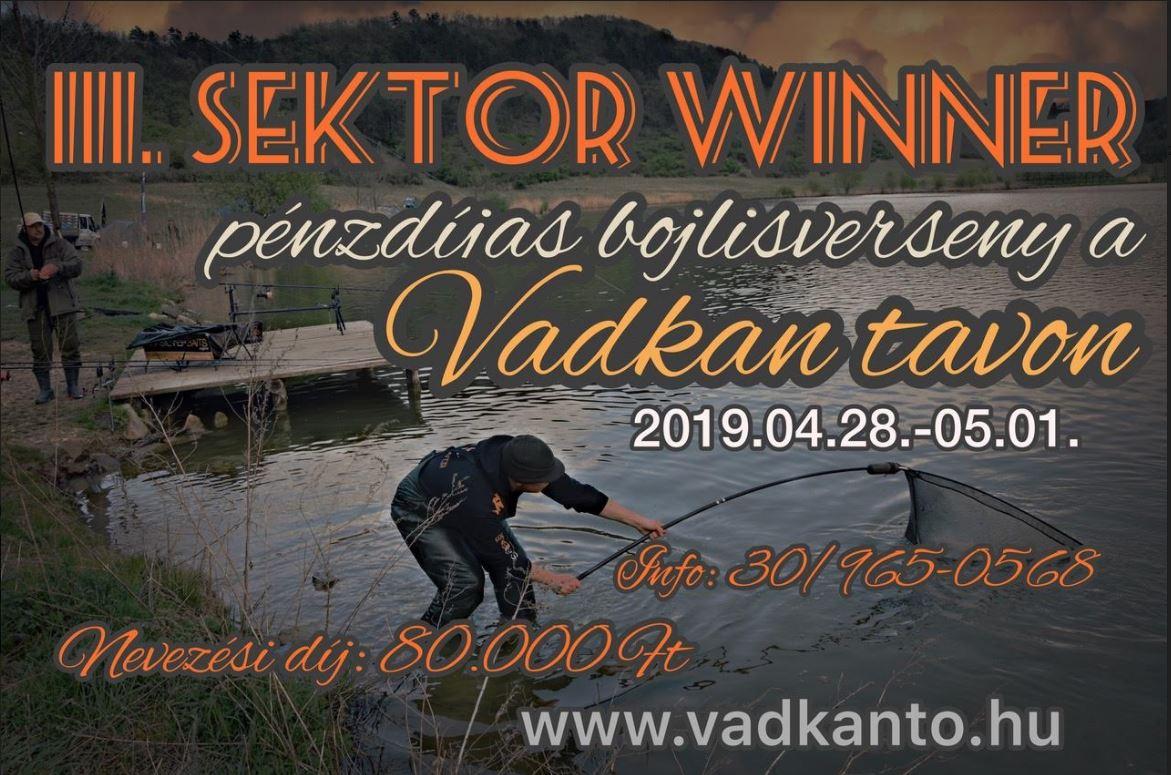 III. SEKTOR - WINNER pénzdíjas bojlisverseny a Vadkan tavon