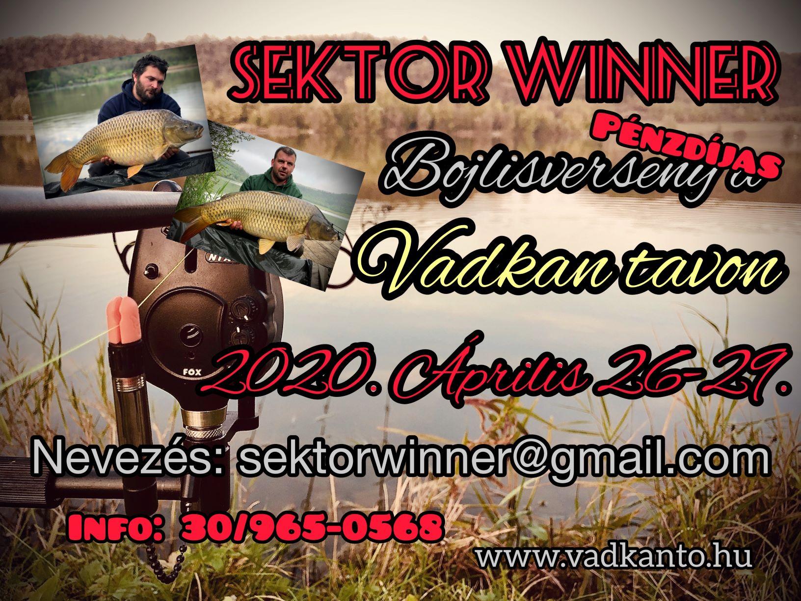 IV. SEKTOR - WINNER pénzdíjas bojlisverseny